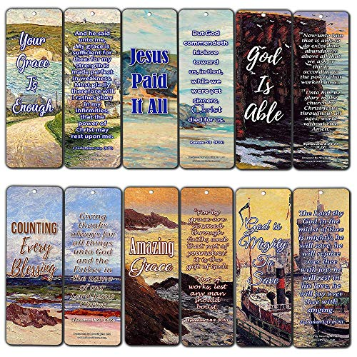 Your Grace is Enough Scripture Bookmarks (KJV) (12-Pack) - Perfect Gift Idea for Friend and Relatives