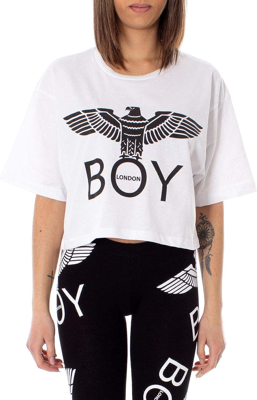 Boy London Women's BLD1782WHITE White Cotton TShirt
