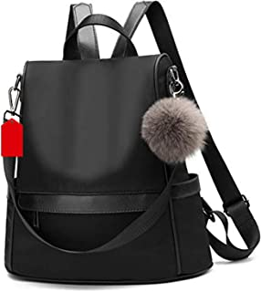 PAGWIN® Girls Fashion Backpack Cute Mini Leather Backpack Purse for Women (Black) PG-0033