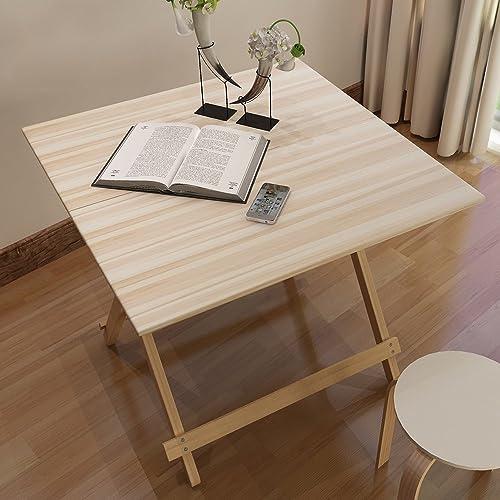 Table pliante réglable en Bois Table d'ordinateur Portable Bureau pour Enfants Petite Table décorative   70  70  70CM Peut être tourné