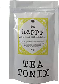 BE Happy Tea for Depression and Stress Relief with St. John's Wort, Vervain, and Skullcap 40g - to Restore The Nervous Sys...