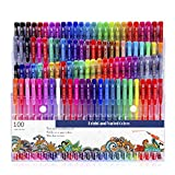 S-TROUBLE 100 marcadores de Colores, bolígrafos de Gel, neón, Brillo, metálico, Pastel, lanzadera, garabatos, Dibujo, Arte, marcadores, Colores, sin duplicados