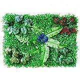 AUTOECHO Gartenzaun, Hausgarten Sichtschutzzäune, UV-geschützte Randkante Erdung Kunststoff Rasen Imitation Dekorativer Zaun, Künstliche Heckenpflanzen Hängende Paneele Zaun Bildschirm Grünwände