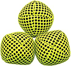 speevers Juggling Balls for Beginners and Professional 120g, XBalls Set of 3 Fresh Design - 5 Beautiful Uni Colors Available, 2 Layers of Net Carry Case, Choice of The World Champions (Yellow)