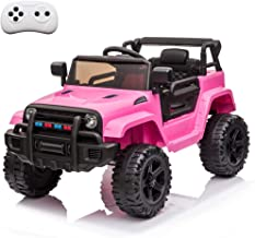VALUE BOX Kids Ride On Truck 2.4G Remote Control, Kids Electric Ride-on Car 12V Battery Motorized Vehicles Age 3-5 w/ 3 Sp...