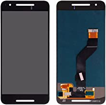 LCD Display Digitizer Touch Screen Panel Lens Assembly Replacement for Google Huawei Nexus 6P H1511 H1512 (Black)
