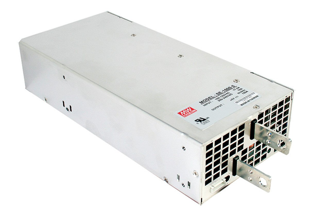 Mean Well SE-1000-12 Enclosed Switching AC-to-DC Power Supply, Single Output, 12V, 83.3A, 999.6W, 2.5