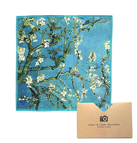 Extra Large 6 Pack Classic Art Vincent Van Gogh Almond Blossoms  Ultra Premium Quality Microfiber Cleaning Cloths Best for Camera Lens Glasses Screens and All Lens