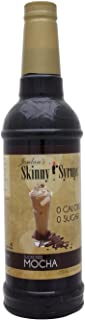 Jordan's Skinny Syrups | Sugar Free Mocha Coffee Syrup | Healthy Flavors with 0 Calories, 0 Sugar, 0 Carbs | 750ml/25.4oz Bottle