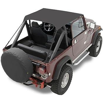 Crown WB10015 Windbreaker Black Denim For Jeep TJ YJ CJ5 CJ7 CJ8 1976-1986