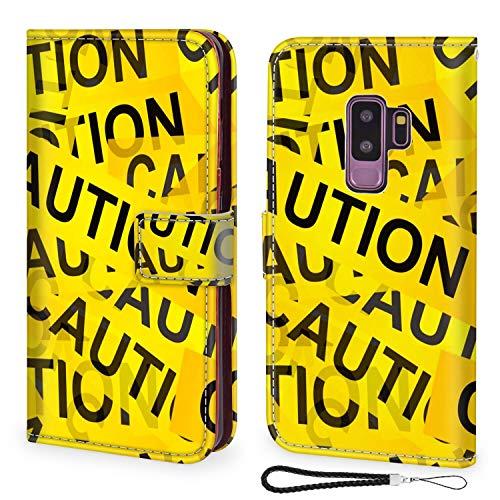 UZEUZA Funda para Samsung Galaxy S9 Plus Premium PU cuero magnético bolsillo caso Kickstand tarjeta titular ranuras con subasta