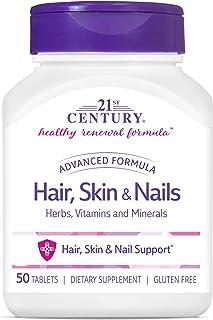 21st Century Hair, Skin & Nails Advanced Formula, 50 Caplets