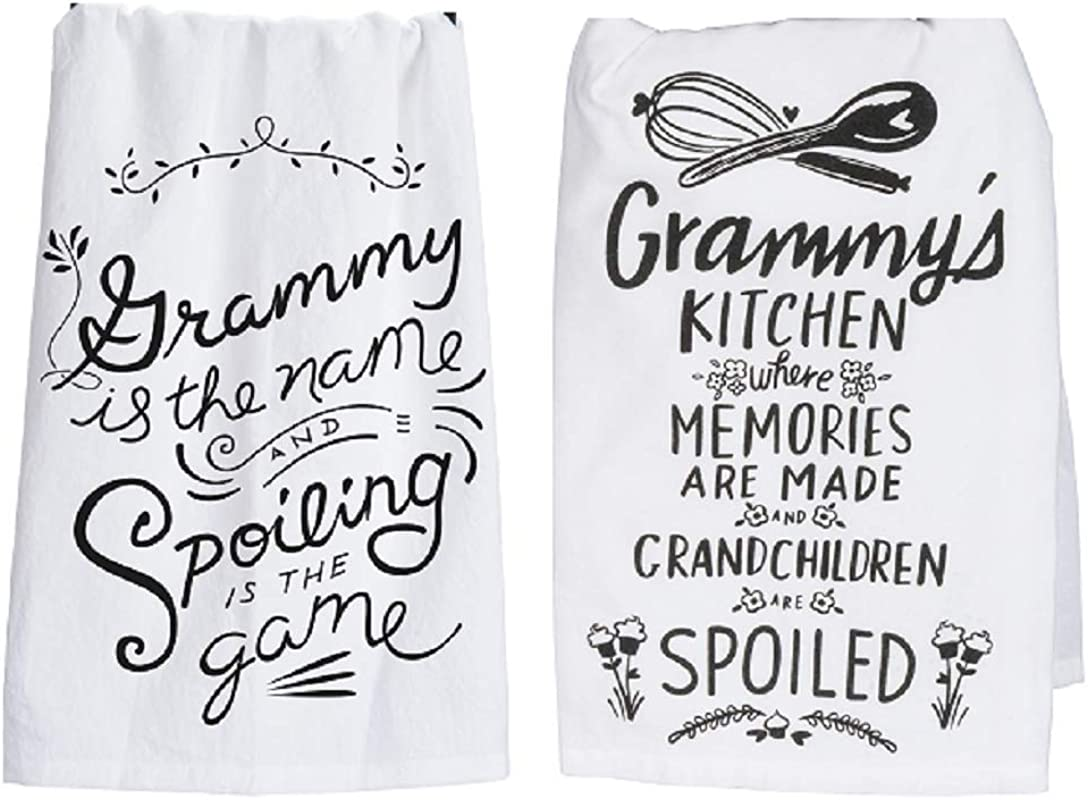 Primitives By Kathy Grammy Towel Set Grammy Is The Name Spoiling And Grammy S Kitchen Where Memories