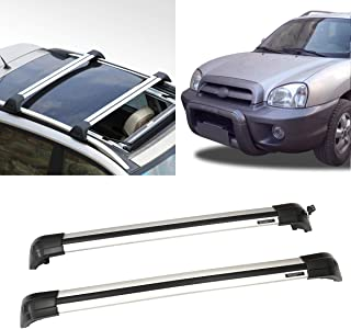 Autoxrun Cross Bar Roof Rack Fits 2013-2017 Hyundai Santa Fe Top Roof Rail Luggage Cargo Rack Rails