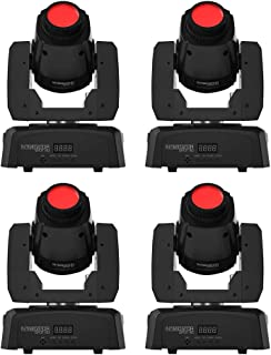 4 x CHAUVET DJ Intimidator Spot 110 LED Moving-Head Light Fixture Black