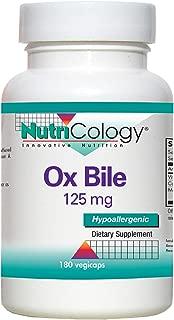 Allergy Research Group Ox Bile 125 Milligrams 180 Vegicaps