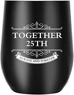 25th Anniversary Gifts for Men Women Couple, Together Always and Forever, Personalized Gifts for Parents Wife Husband Dad Mom (25th Anniversary)