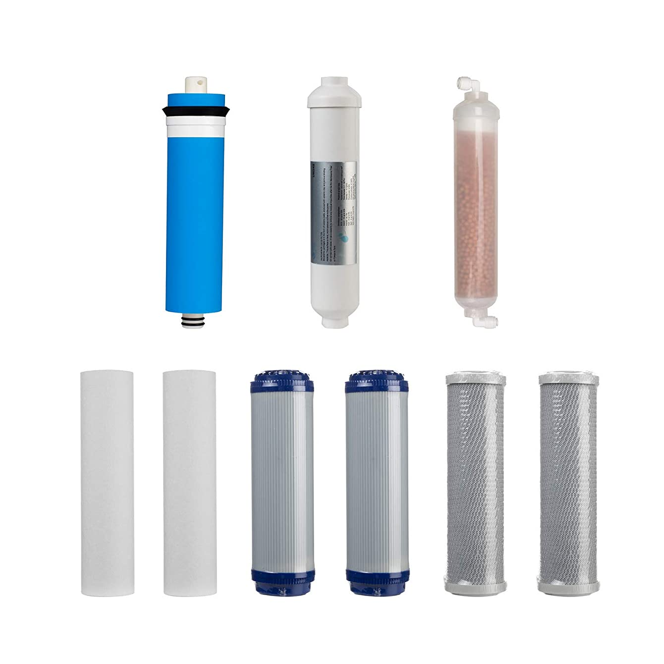 Ukoke 1-year Replacement Filter Set for 6 Stage (9pcs) for UKOKE RO75G & RO75GP Reverse Osmosis Water Filtration System, 6~12 months