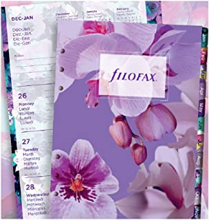 Filofax A5 Floral Illustrated 2021 Diary Refill Pack
