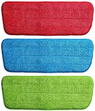 Deetto Microfiber Spray Mop Replacement Head Pads (Multicolour) Set of 3