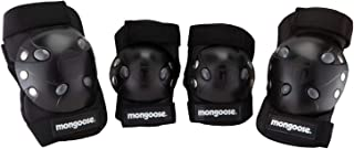 Mongoose BMX Gray High Impact Shell Gel Knee & Elbow Pads