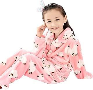 BLOSSOMLIFE Autumn Flannel Warm Pajamas Set for Boys Girls PJ's Costumes Girl Cozy Pajama