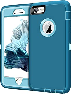 XNMOA Case for iPhone 6 Plus Case iPhone 6s Plus Case Heavy Duty Shockproof Protective Scratch Resistant Shell Dual Layer Hard PC Bumper and TPU Back Cover for iPhone 6 Plus iPhone 6s Plus Teal Blue
