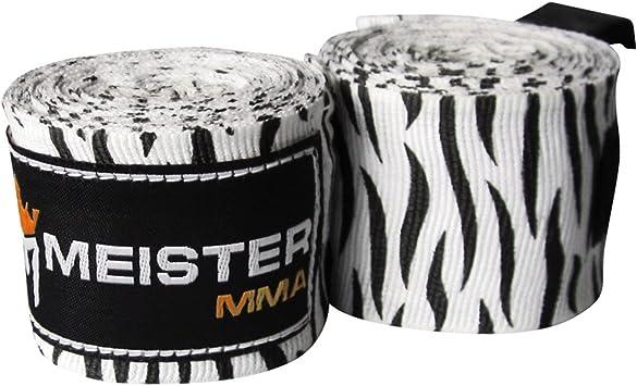 Meister Handbandagen f/ür Boxen und Kampfsport aus Baumwolle elastisch 1/Paar 4,5 m