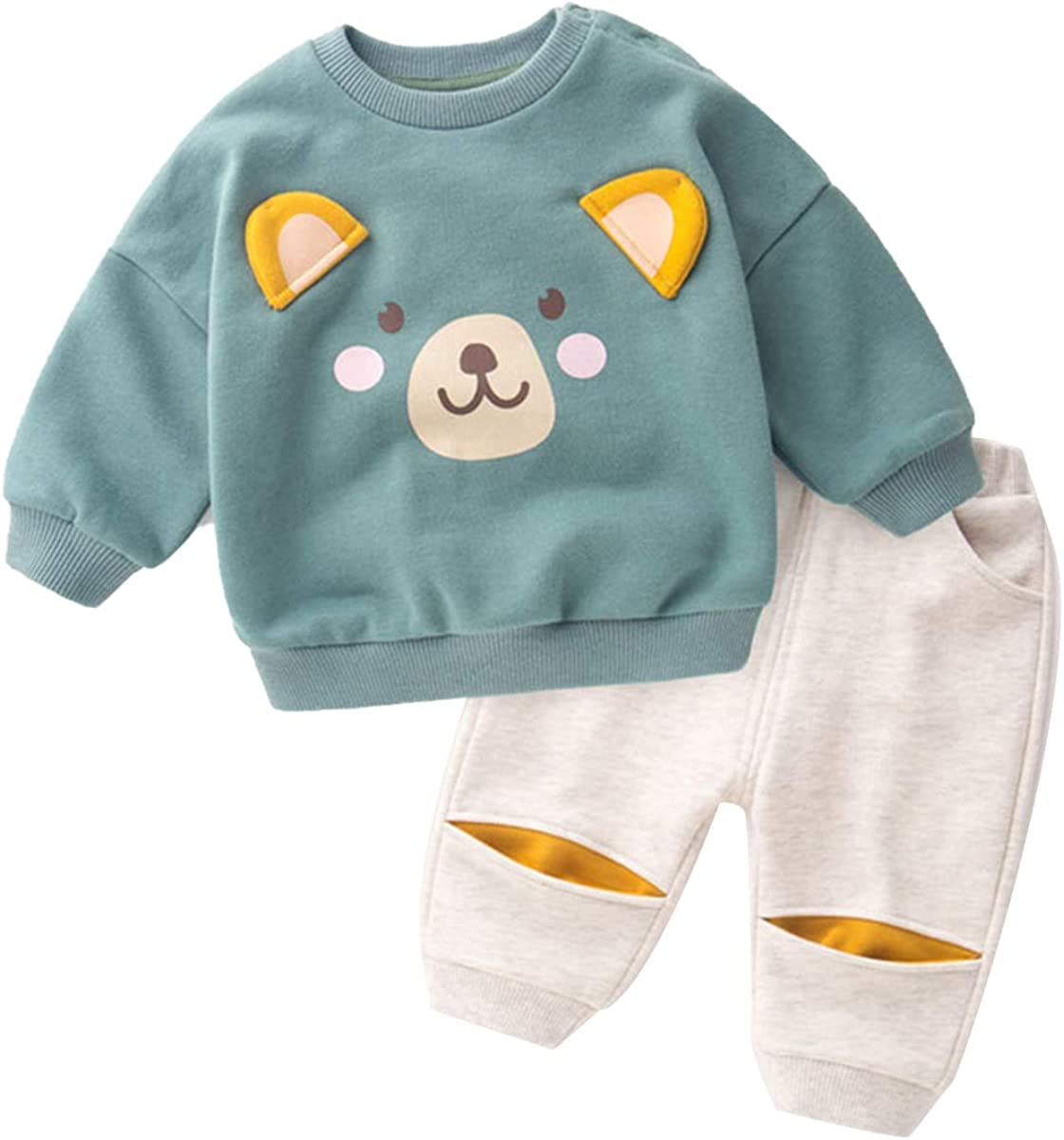 Toddler Baby Boys Clothes Long Set New mail order T Cartoon Cute Cheap sale Sleeve