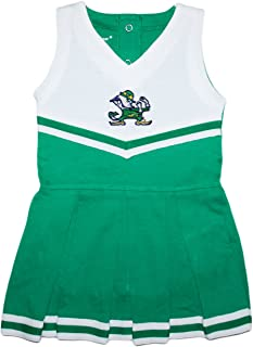 Creative Knitwear University of Notre Dame Fighting Irish Baby and Toddler Cheerleader Bodysuit Dress