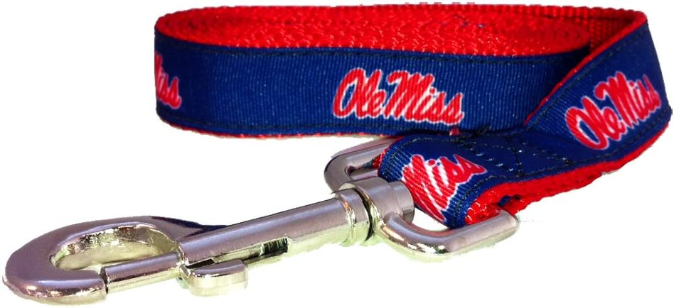 NCAA Mississippi Old Miss Low price Rebels 6-Feet Red Leash X-Small 5 ☆ popular Dog