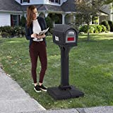 Simplay3 Dig-Free Easy Up Classic Mailbox (Black)