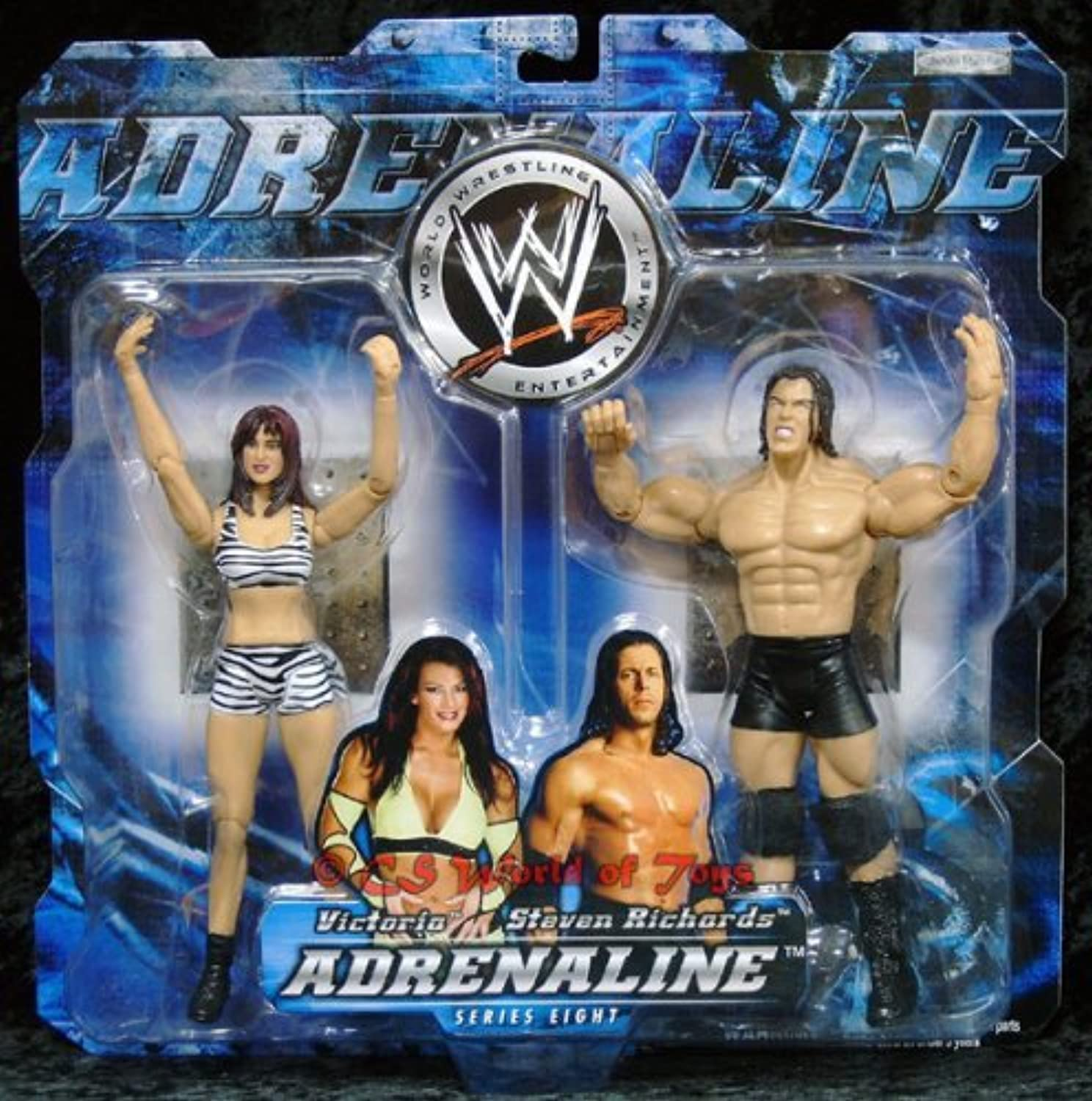 World Wrestling Adrenaline Series Eight  Victoria & Steven Richards Aktion Figuren by Adrenaline