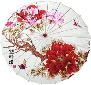 Forart Rainproof Handmade Chinese Oiled Paper Umbrella Sunshade Oil Paper Oriental Parasol