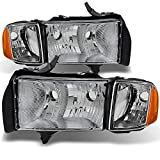 AKKON - For Dodge Ram 1500 2500 3500 Pickup Truck Sport Package Clear Headlights Head Lamps Replacement Pair Set