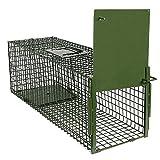 Yaheetech Trampa para Animales Trampa Jaula para Zorro Conejo 4 Tamaño S:80 x 25 x...