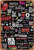 No/Brand The Beatles Neil Young Metall Blechschild Retro