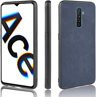 For Oppo Realme X2 Pro/Oppo Ace Shockproof Sheep Skin PC + PU + TPU Case New (Light Black) Zhaoyy (Color : Blue)