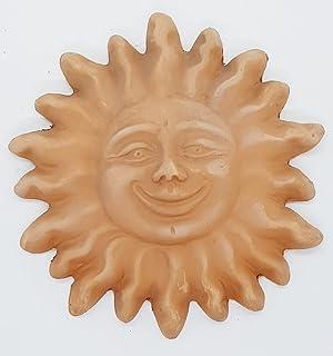 Sole da muro in terracotta Ceramica Handmade Le Ceramiche del Castello Made in Italy Dimensioni: 13 x 13 centimetri