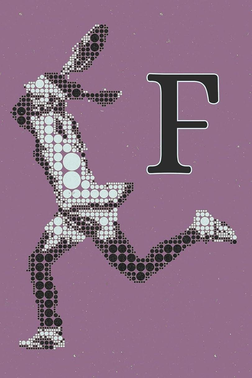 水を飲むミシン目心配F Monogram Initial Tennis Journal: Personalized Tennis Gift, 6x9 lined blank notebook, 150 pages, journal to write in for journaling, notes, or inspirational quotes, paperback composition book