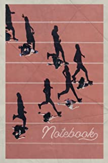 Notebook: 4x400 relay Pretty Composition Book Journal Diary for Men, Women, Teen & Kids Vintage Retro Design for track and field high school records