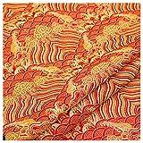 Rancheng Emulation Seiden Stoff Welle Muster 50 * 75 Farbig