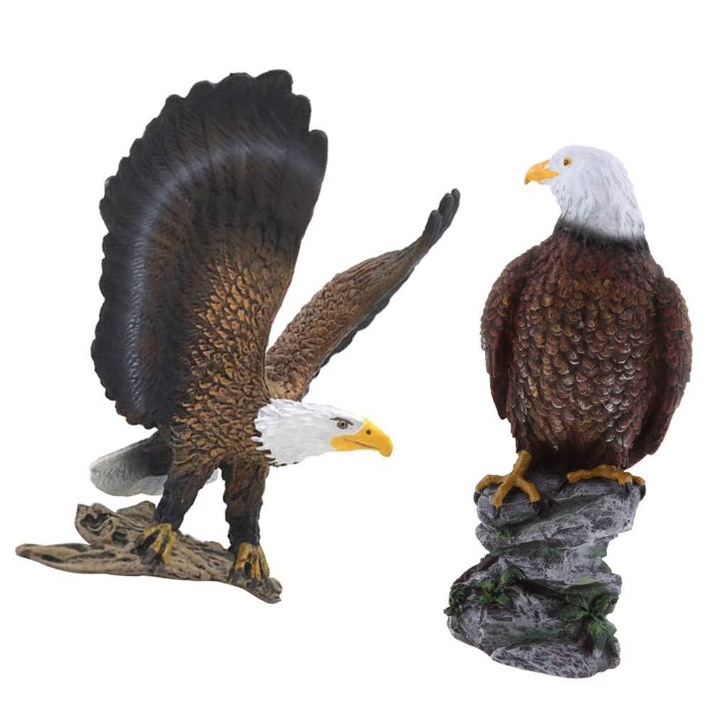 Tubayia - 2 Figuras de águila para decoración de jardín: Amazon.es: Jardín