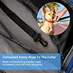 Pet Carrier Hand Free Sling Puppy Carry Bag Small Dog Cat Traverl Carrier with Breathable Mesh Pouch for Outdoor Travel Walking , Pet Supplies (blue) 10