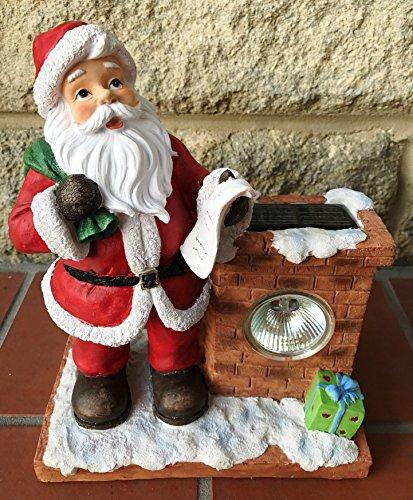 Babbo Natale con chimney- Xmas Christmas decorazione da giardino, luce solare