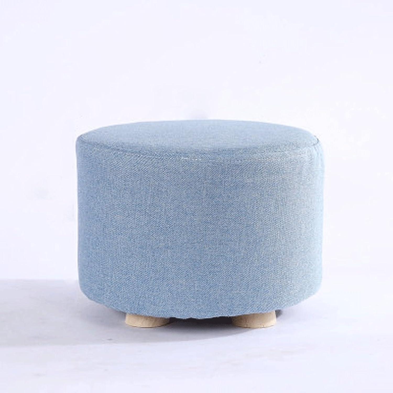 FLYSXP Small Stool Fashion Home Solid Wood Sofa Stool Creative Small Bench Stool (color   E)