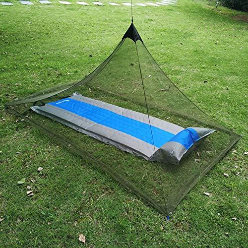 YYYY Moustiquaire de Camping moustiquaire, sans Plafond extérieur, avec Sac Portable, compacte et légère, adaptée aux Sacs de Couchage, Lits, Cours, canapés et tentes (Simple/Double)-Aarmygreen-1.5M