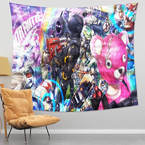 Game Tapestry Game Wall Art Backdrop for Bedroom Birthday Party Boys Room Decorations 59x70in
