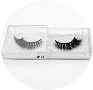 100% handmade 3D eyelashes real mink makeup thick false eyelashes with glitter packing D108,D101