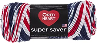 Red Heart Super Saver Yarn E300.3943, Americana, Print